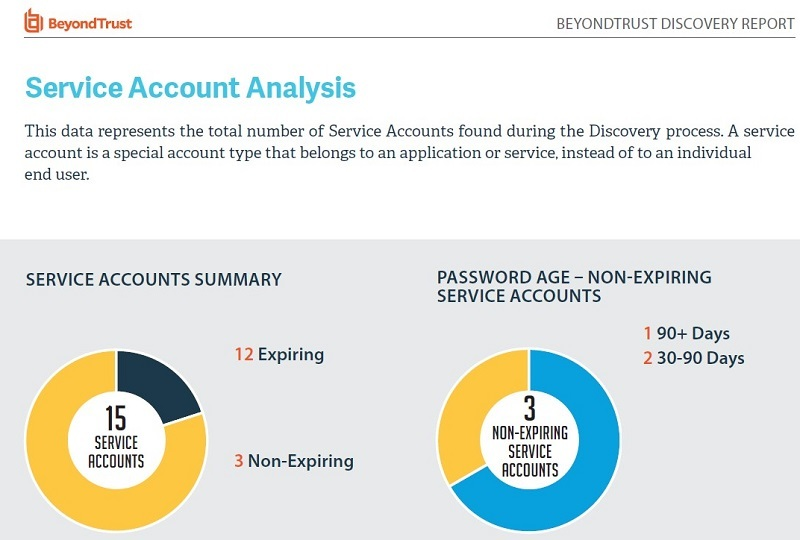 Discovery Report: Service Account Analysis Result