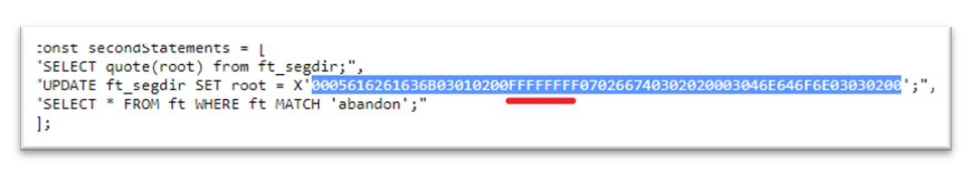 青のメモリ領域は、PoCコードの文字列と同じです。